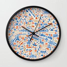 Paris City Map Poster Wall Clock