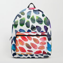 Colorful Painted Drops Backpack