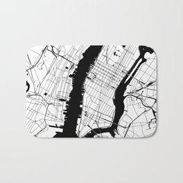 New York City White on Black Bath Mat