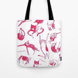 Falling Cats Tote Bag