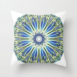 Deco Mandala - Ocean Palette  Throw Pillow
