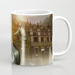 Music Man in the City, by Eric Fan and Viviana González Coffee Mug