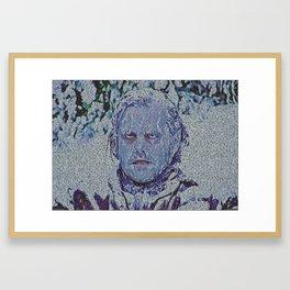 Text Portrait of Jack Torrance Framed Art Print