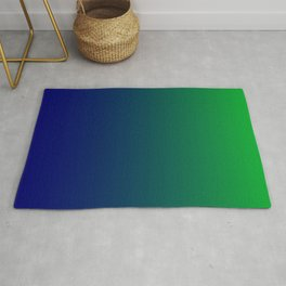 Green to Blue Gradient Rug