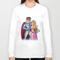 super hero Long Sleeve T-shirts featuring Super Hero  by Alex Pedreira