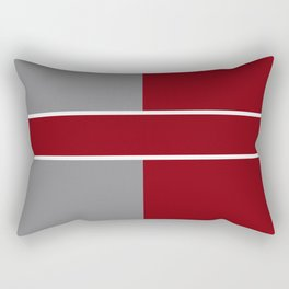 Team Color 6....gray,maroon Rectangular Pillow