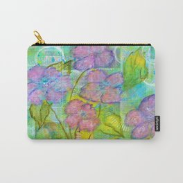 Spring Fantasy, Abstract Flowers Art Carry-All Pouch