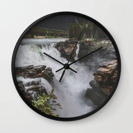 Athabasca Falls Mountain View Wall Clock