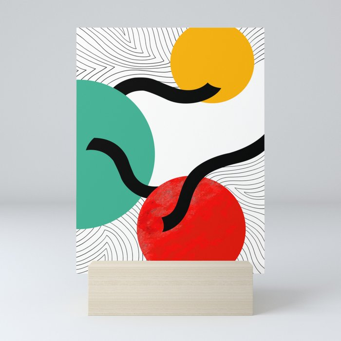 Circle and line Mini Art Print