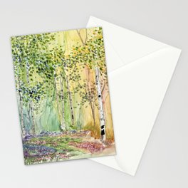4 season watercolor collection - spring Stationery Cards