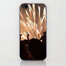 People enjoying fireworks show iPhone Skin