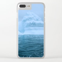 Visions of Blue III Clear iPhone Case
