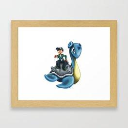 Let´s battle. Framed Art Print