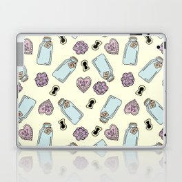 Eat Me, Drink Me - Yellow Laptop & iPad Skin