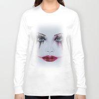 harley quinn Long Sleeve T-shirts featuring Harley Quinn by Halinka H