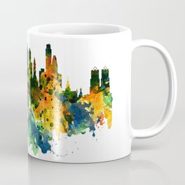 Philadelphia Watercolor Skyline Coffee Mug