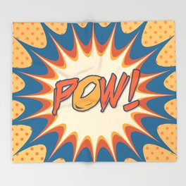 POW! Polka Dot Vintage Graphic Novel Art Throw Blanket
