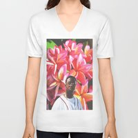 gucci V-neck T-shirts featuring gucci mane floral by Cree.8