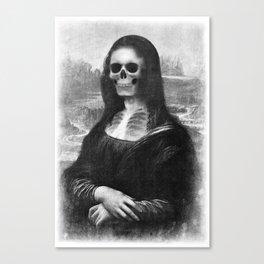 Mona Lisa - Xray Canvas Print