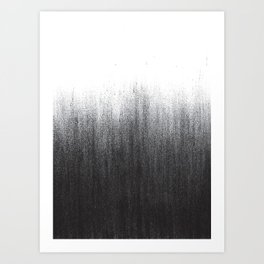 Charcoal Ombré Art Print