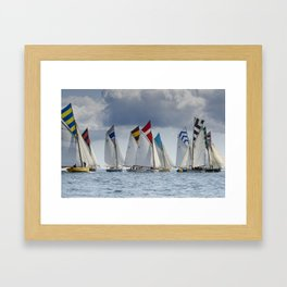 Falmouth Working Boats Framed Art Print