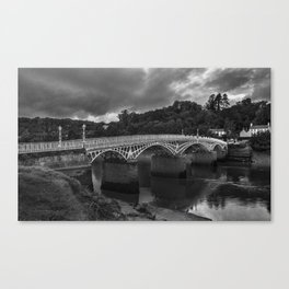 The Old Wye Bridge Chepstow Canvas Print
