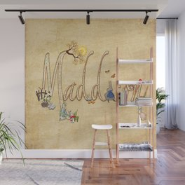 Maddison / Personalised Name Illustration Wall Mural