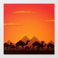 camel Canvas Prints featuring Camel by aleksander1