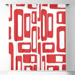 Retro Mid Century Modern Abstract Pattern 336 Red Blackout Curtain