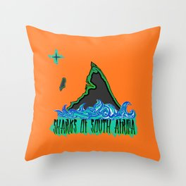 Sharks Of South Africa Throw Pillow