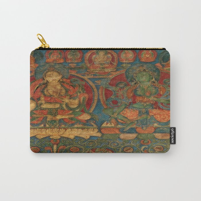 The White Tara and The Green Tara Carry-All Pouch