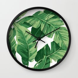 Tropical banana leaves IV Wall Clock