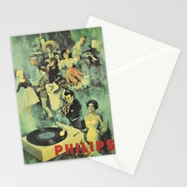 Plakat philips  musique vintage Stationery Cards