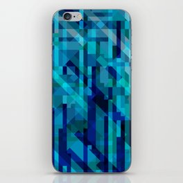 abstract composition in blues iPhone Skin