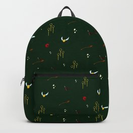Quidditch Pattern - Slytherin Backpack