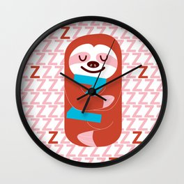 The Slothful One Wall Clock