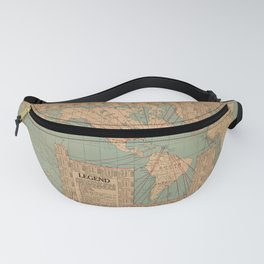 Vintage World Map Shipping Routes and Speeds (1923) Fanny Pack