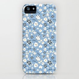 Baby Blue Floral iPhone Case