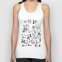 typo Tank Tops featuring TYPO CHAOS by Michela Buttignol
