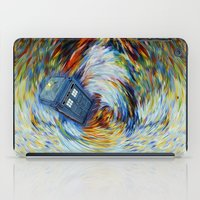 fandom iPad Cases featuring Tardis doctor who jump into time Vortex by Three Second