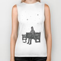 whisky Biker Tanks featuring snow & whisky by ASIMON