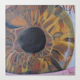 Macro Lens Eye (2 part series: zooming in) Canvas Print