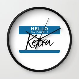 Keira Personalized Name Tag Woman Girl First Last Name Birthday Wall Clock