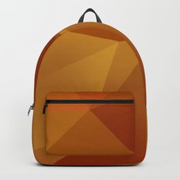 Geometric Pattern - Layered Sunburst Warm Earth Colours Backpack