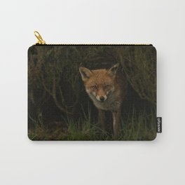 Fox Peeking Through The Hedge Carry-All Pouch