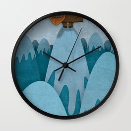 Man of the Mountains Wall Clock