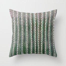 CACTUS NEEDLES PATTERN, closeup green succulent Throw Pillow