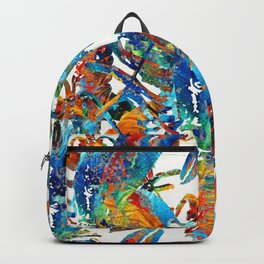 Colorful Lobster Collage Art - Sharon Cummings Backpack