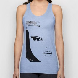 Beauty face Unisex Tank Top