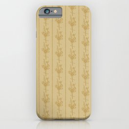 Straw Flowers and Stripes - Yellow Ochre iPhone Case
